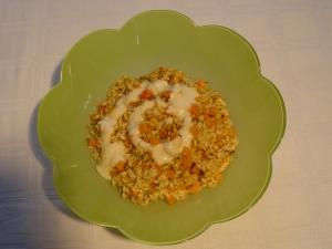 risotto cu dovleac si crema de parmezan