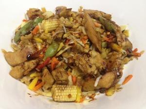 Carne de cereale straccetti in wok